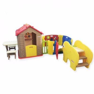 HN-706P2 Haenim my First Play House + Play Yard + Mini Coco Slide