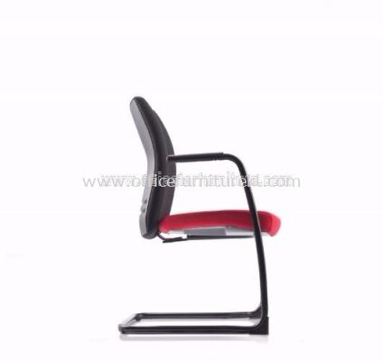 ERGO EXECUTIVE VISITOR CHAIR WITH STEEL EPOXY CANTILEVER BASEAER3813F
