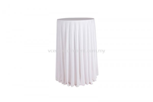 White Normal Hi Bar Table Cloth