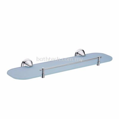 Spherical Glass Shelf cw Bar (100125)