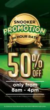 VK SNOOKER 50% Promotion Snooker Center