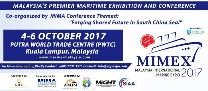 Malaysia International Marine Expo 2017 (MIMEX) October 2017 Year 2017 Past Listing