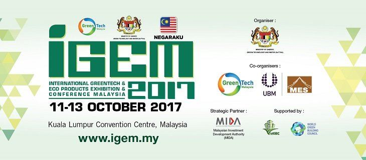 International Greentech & Eco Products Exhibition & Conference Malaysia (IGEM 2017) October 2017 Year 2017 Past Listing