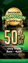 VK SNOOKER 50% Promotion