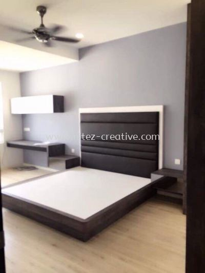 Bedstead & Feature Wall