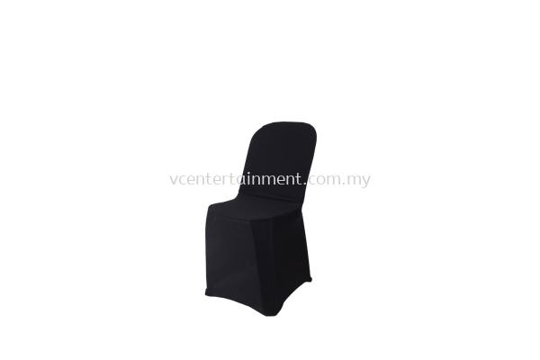 Black Spandex Plastic Chair Cover