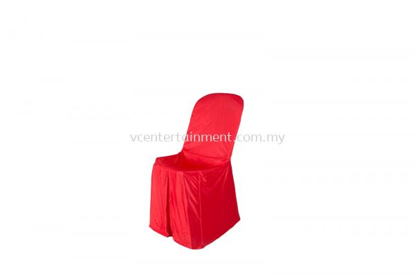 Red Normal Plastic Chair Cover