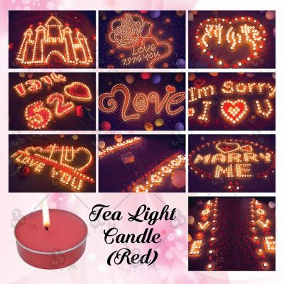 Tea Light Candle *Red 50pcs (CDL-T50R)