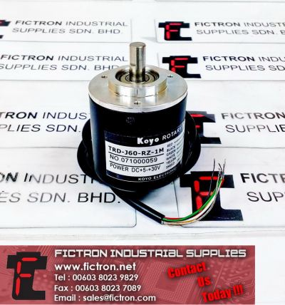 TRD-J60-RZ-1M KOYO Optical Rotary Encoder High Precision Encoder Supply Malaysia Singapore Thailand Indonesia Europe & USA