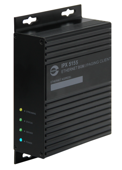 iPX5155 - ETHERNET BGM / PAGING CLIENT ( AUDIO EXTRACTOR )