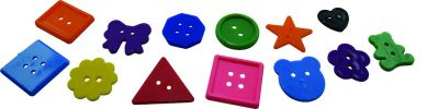 SD13820 Fancy Shapes Buttons (400pcs) Manipulative  Manipulative Toys