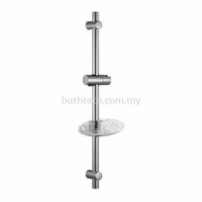 Sliding Bar with Soap Dish, Length 600 mm - Round (300581)
