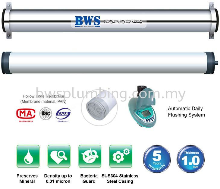 BWS Membrane Water Filter UF1900 BWS Outdoor Water Filter