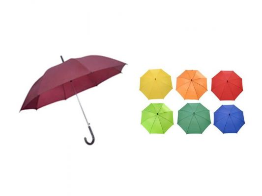 24 Inches Plain Taffeta Nylon Umbrella (Ready Made)