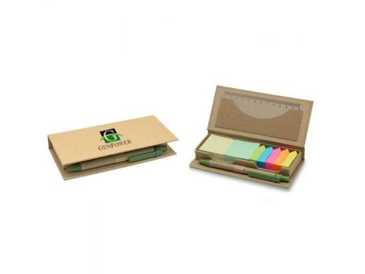 E08 Eco Sticky Notes Set (with Paper Pen)