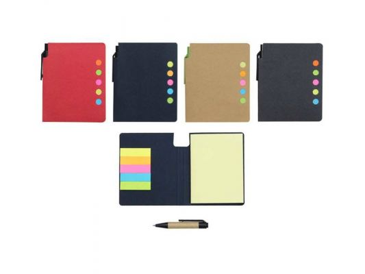 E06 Eco Sticky Notes Pad (with Pen)