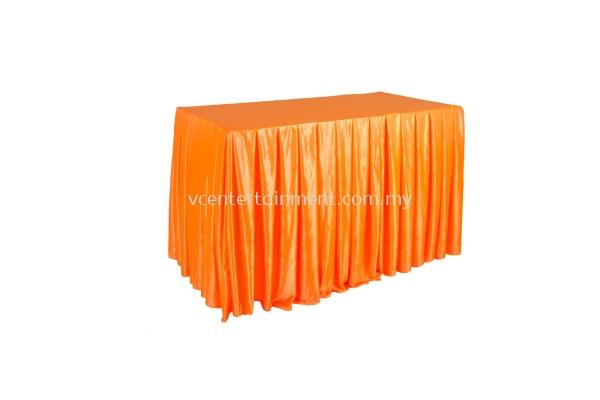 Orange Normal Oblong Table Skirting 2x4