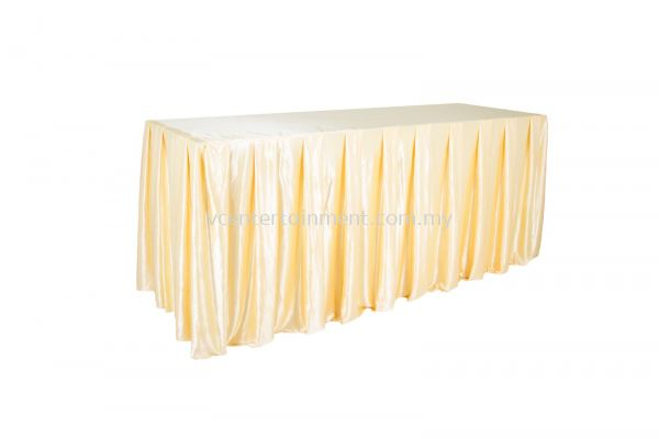 Gold Normal Oblong Table Skirting 2x6