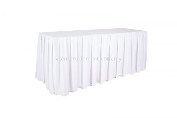 White Normal Oblong Table Skirting 2x6
