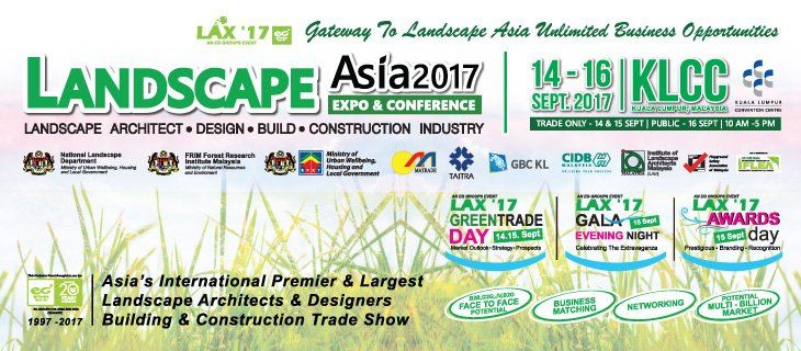Landscape Asia Exhibition & Conference (LAX 2017) September 2017 Year 2017 Past Listing
