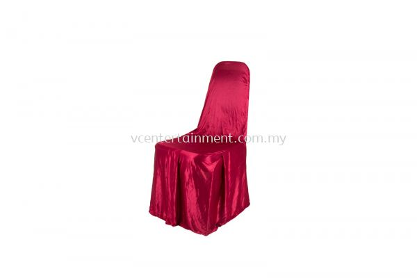 Maroon Normal Banquet Chair Cover