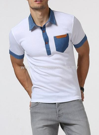 Denim Custom Polo T Shirt