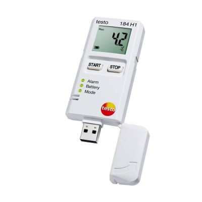 Testo 184 H1 - Air Humidity and Temperature Data Logger for Transport Monitoring[SKU 0572 1845]
