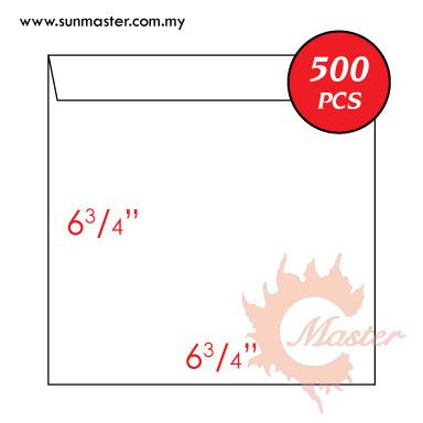 "6 3/4"" x 6 3/4"" White Envelope"