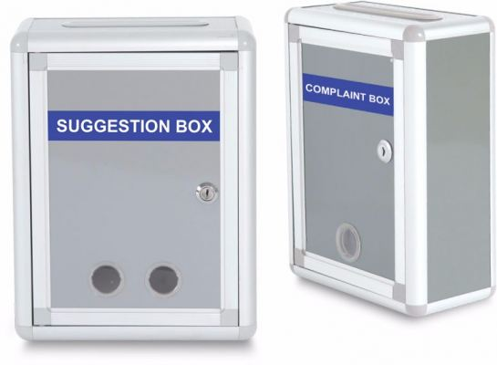 WB605 Complaint And Suggestion Box H29 x W12 x D22 cm