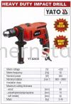 HEAVY DUTY IMPACT DRILL Drill Power Tools
