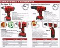 Cordless Drill & Screwdriver Driver Power Tools
