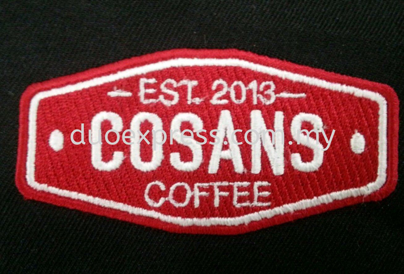 Cosans coffee embroidery logo