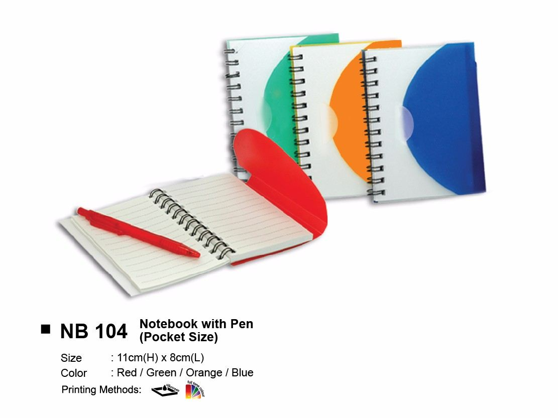 NB 104 NOTEBOOK WITH PEN (POCKET SIZE)