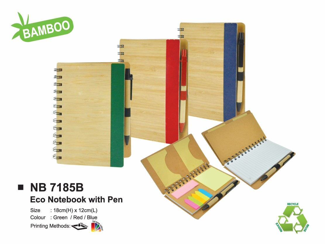 NB 7185B ECO NOTEBOOK WITH PEN