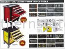 Service Tool Cabinet with 177pcs Tools Tool Box and Cabinet Tool Box and Cabinet