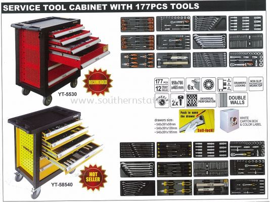 Service Tool Cabinet with 177pcs Tools