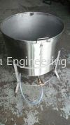 Stainless Steel 304 sup pot with angle support base Bins