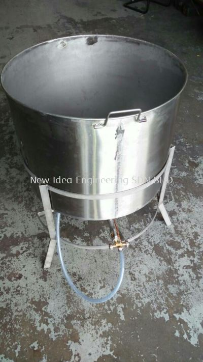 Stainless Steel 304 sup pot with angle support base