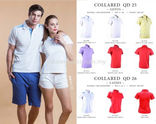 QD25 & QD26 Collar T Shirt