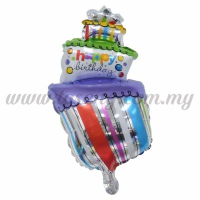 [Birthday] Mini Foil Balloon *Crook Cake (FB-S-009)