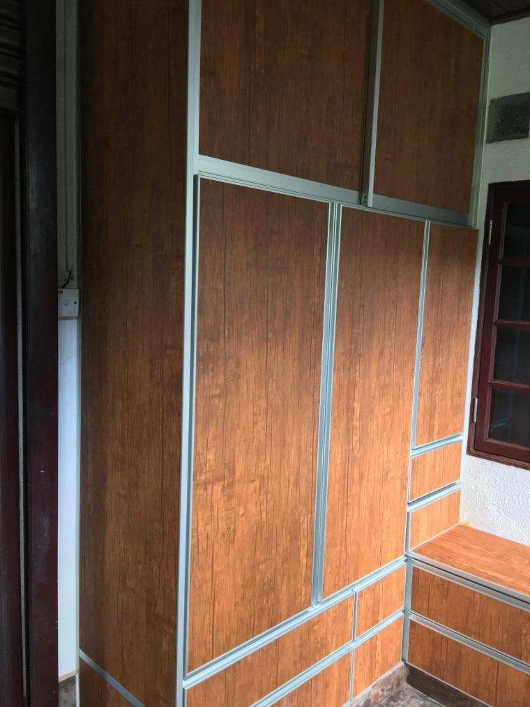 Wood Grain Aluminium Shoe Cabinet Johor Bahru Aluminium Cabinet