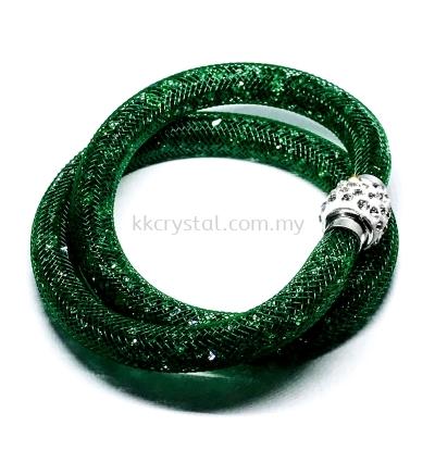 Stardust Bracelet, Double Loop, CC13 Emerald