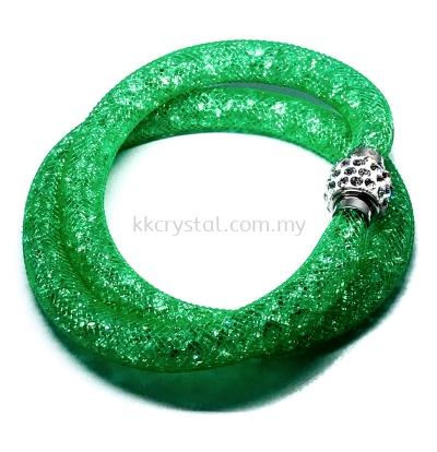 Stardust Bracelet, Double Loop, CC31 Peridot