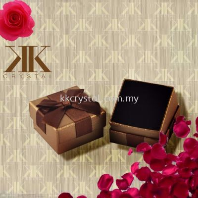 Ring Box, Brown, 5x5cm, 8PCS/PKT