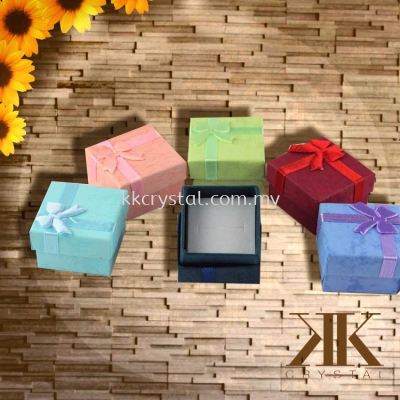 Ring Box, Tiger Stripe, 4x4cm, 12PCS/PKT