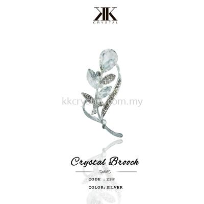 Crystal Brooch, 23#, Silver