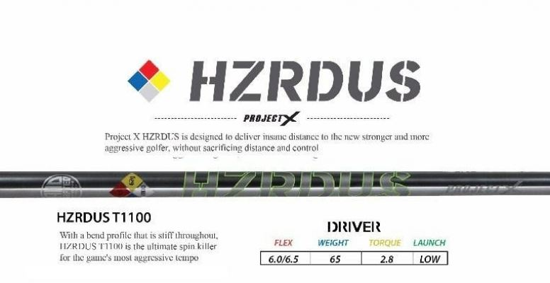 ProjectX HZRDUST1100 Driver Golf Shaft