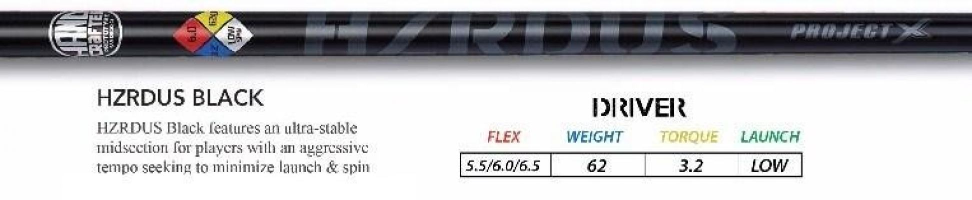 ProjectX HZRDUS Black Driver Golf Shaft