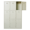 9 Compartment Steel Locker Metal Cabinet/Wardrobe/Racking/Storage