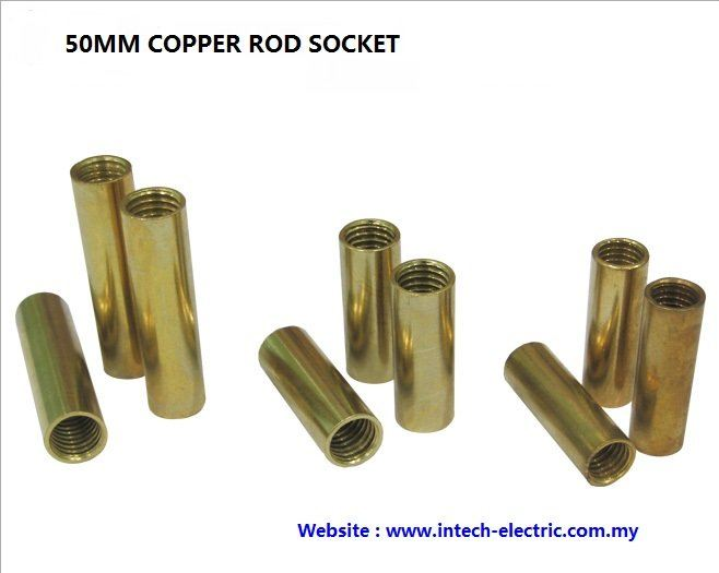 50mm Copper Rod Socket Copper Rod Socket  Copper